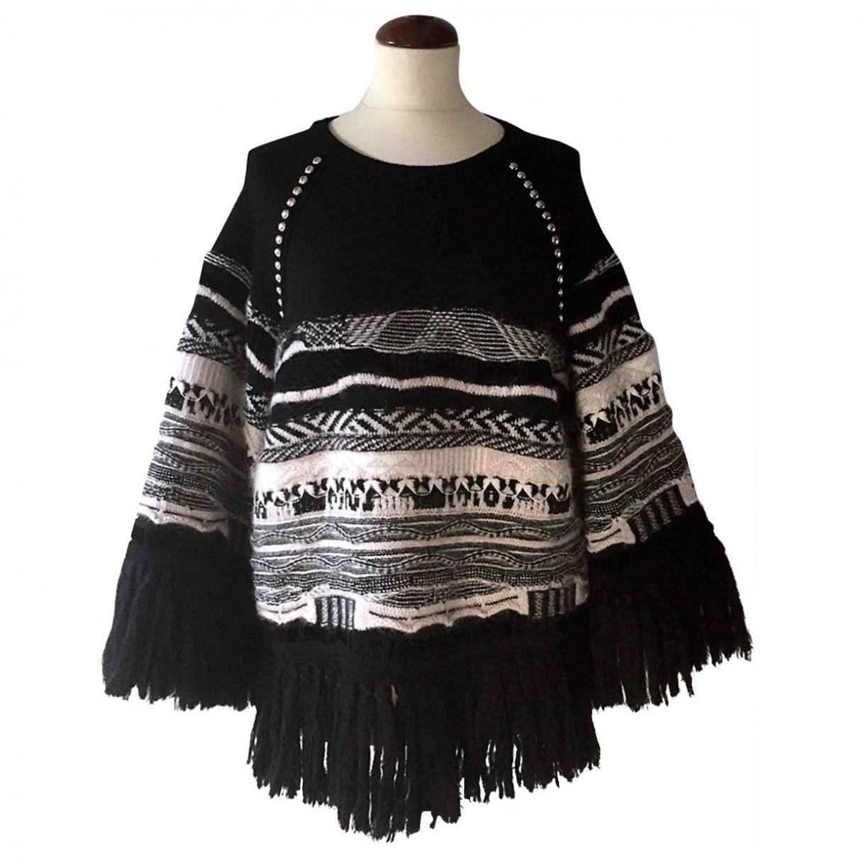 Laneus - Pull   pour femme en laine - noir