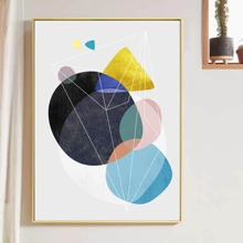 Water Color Pattern Wall Painting Without Frame