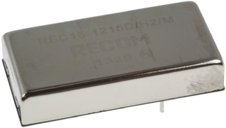 Recom REC15 15W Isolated DC-DC Converter Through Hole, Voltage in 9 → 36 V dc, Voltage out 12V dc Medical