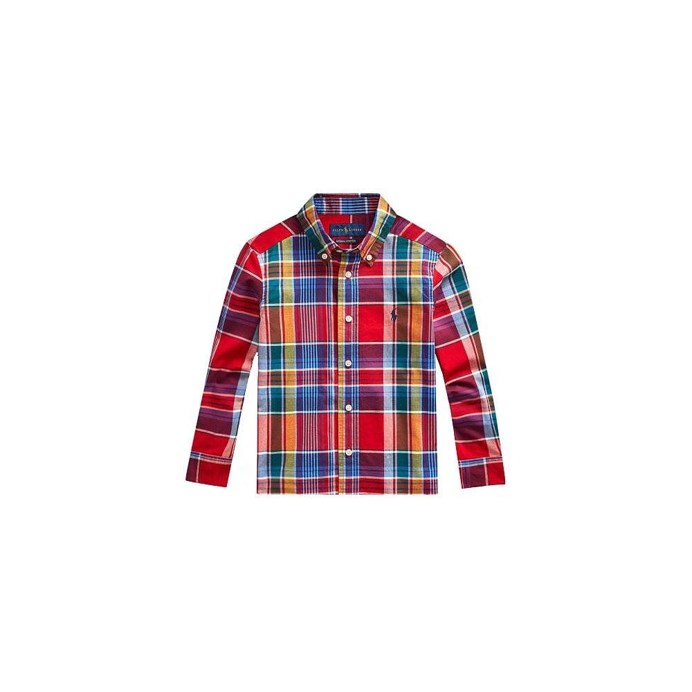 Ralph Lauren Kids Chequered Shirt Size: XL (18-20 YEARS), Colour: MULTI COLOURED