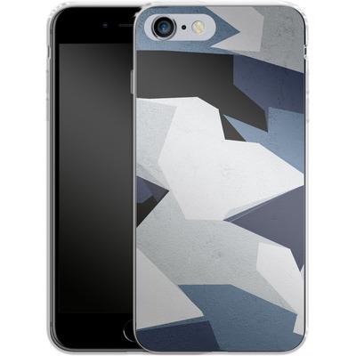 Apple iPhone 6s Plus Silikon Handyhuelle - Geometric Camo Blue von caseable Designs