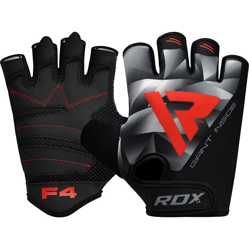RDX F4 Gants de Musculation 2X Grande  Gris Lycra