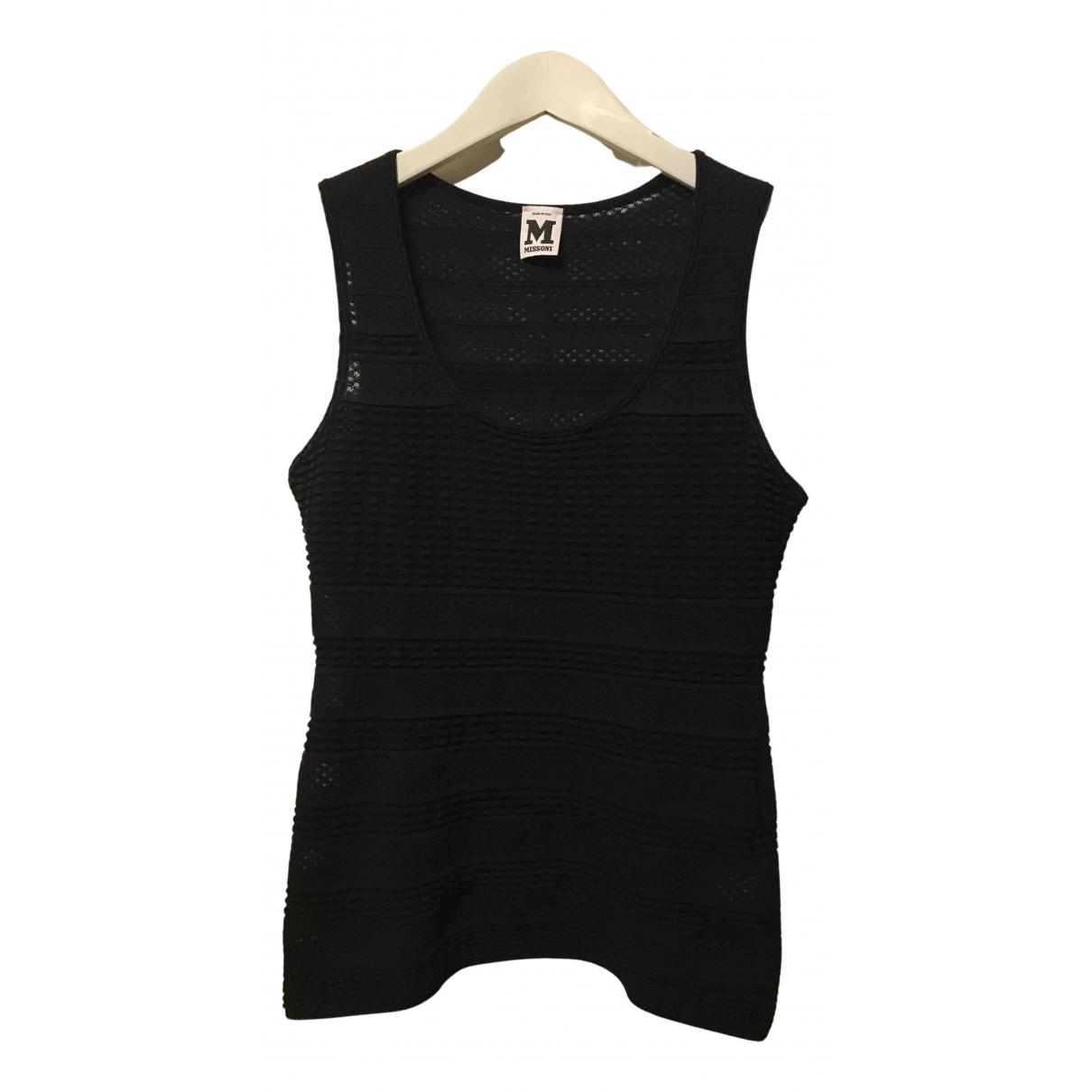 M Missoni - Top   pour femme en coton - noir