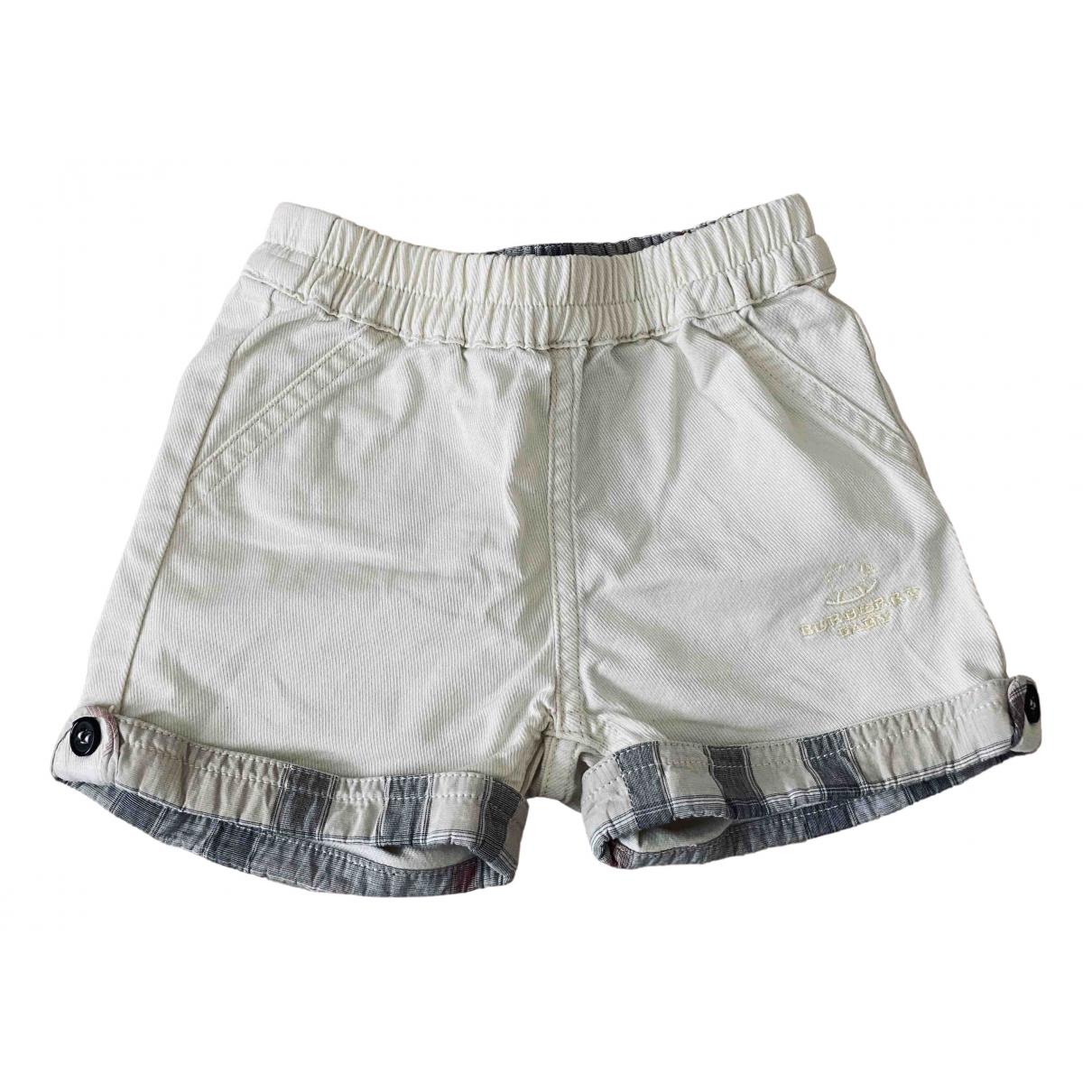 Burberry - Short   pour enfant en coton - beige