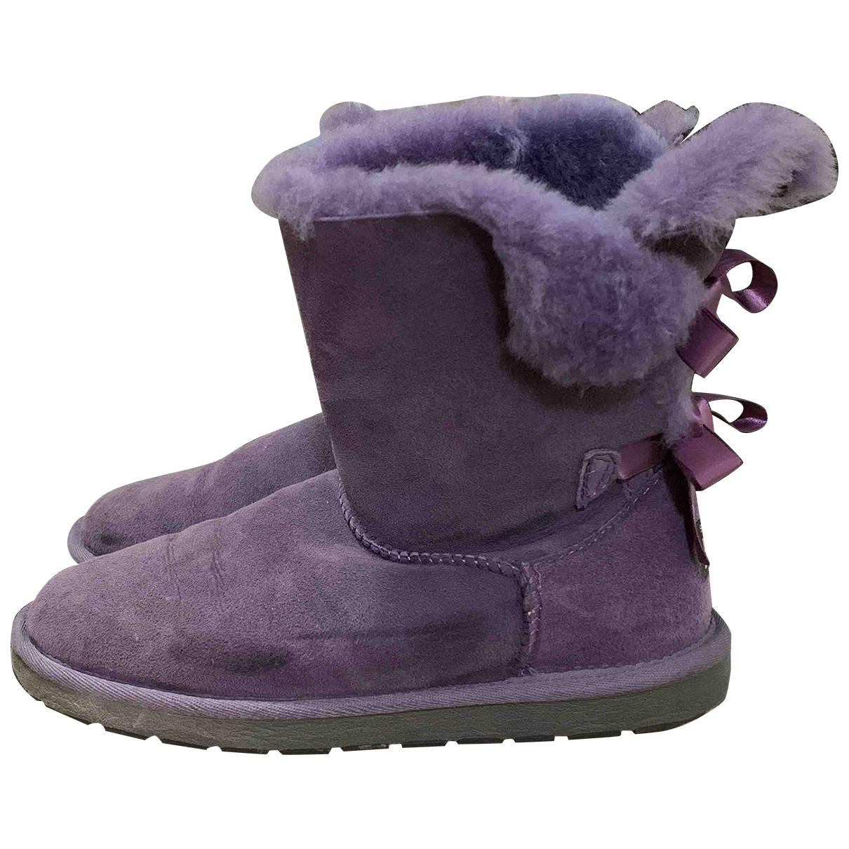 Ugg - Bottes   pour femme en suede - violet