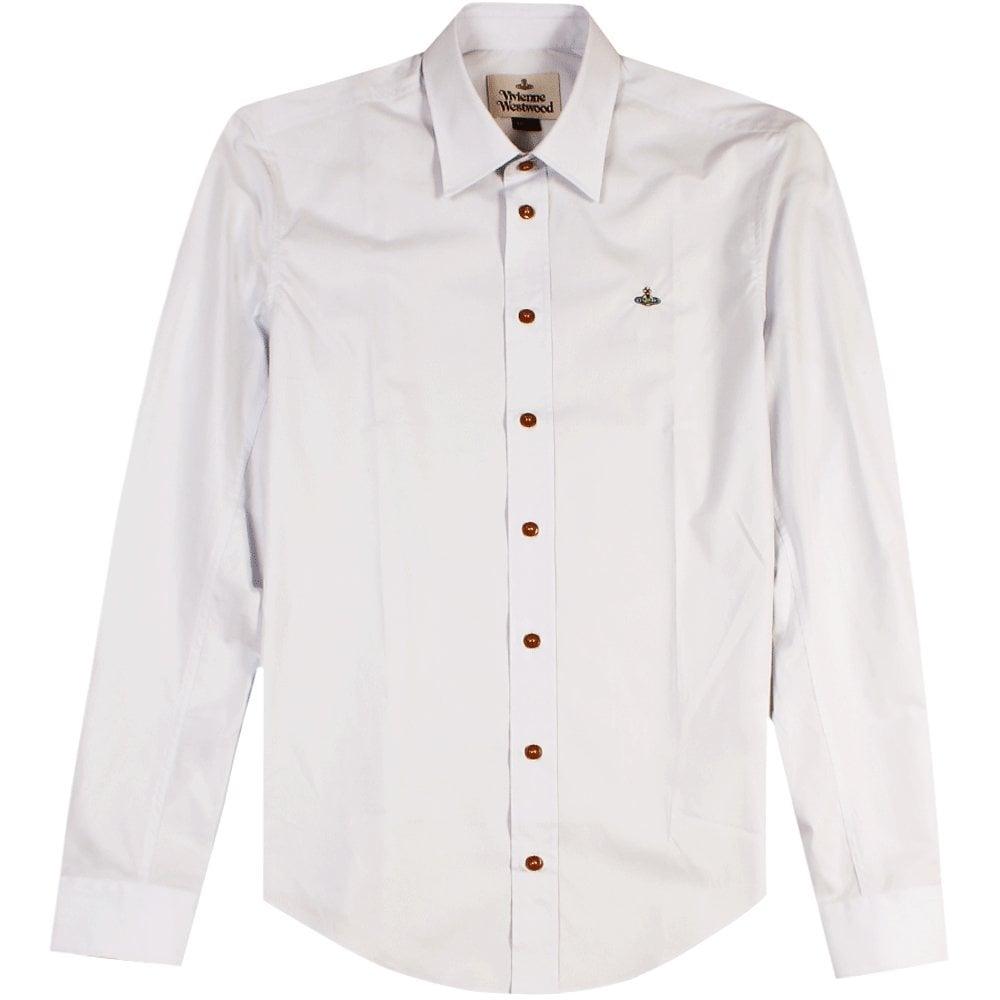 Vivienne Westwood Single Button Shirt Colour: WHITE, Size: LARGE
