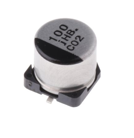 Panasonic 100μF Electrolytic Capacitor 6.3V dc, Surface Mount - EEEHB0J101P (5)