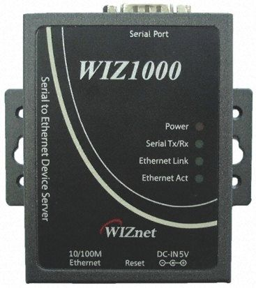 WIZnet Inc WIZ1000 Interface Adapter, 10/100 Ethernet, RJ45, RS232