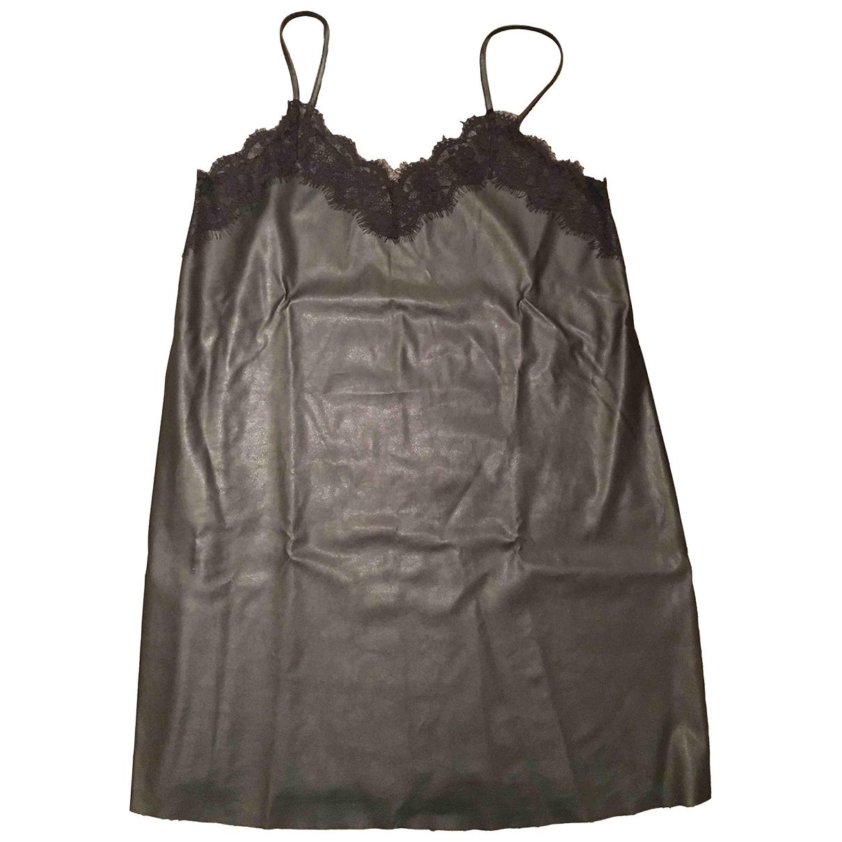 Zara \N Black Leather dress for Women L International