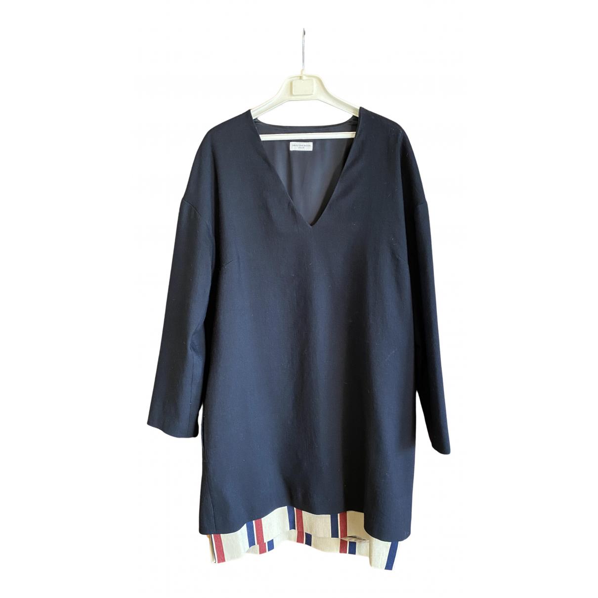 Dries Van Noten N Black Wool dress for Women 38 FR