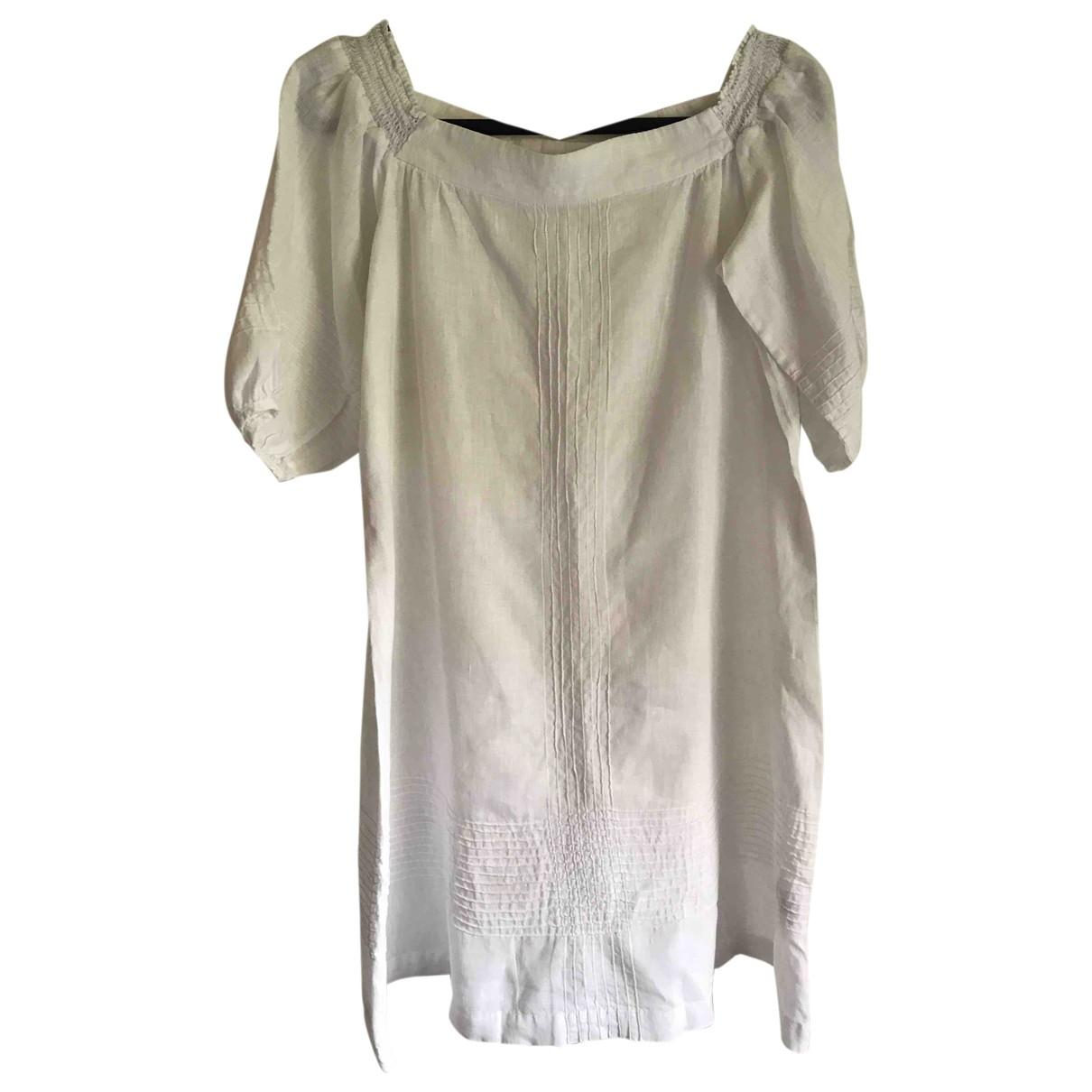 Whistles \N Kleid in  Weiss Leinen
