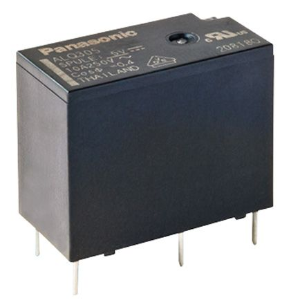 Panasonic , 12V dc Coil Non-Latching Relay SPNO, 10A Switching Current PCB Mount Single Pole (100)