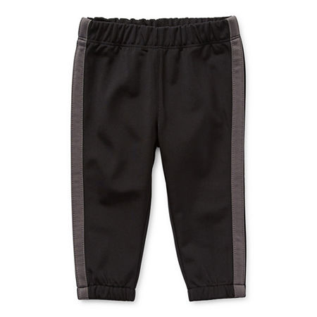 Okie Dokie Baby Boys Cinched Pull-On Pants, 24 Months , Black