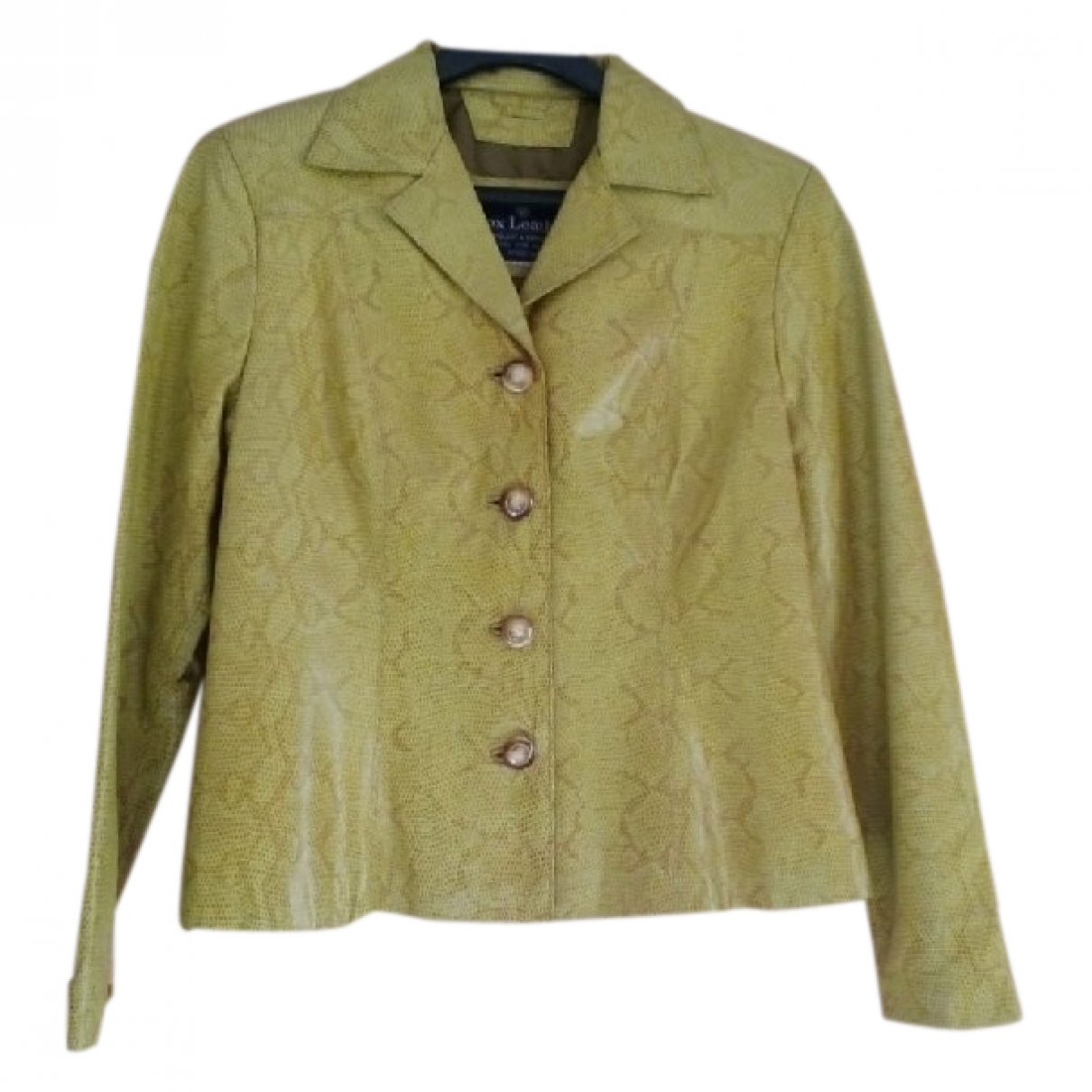 Non Signé / Unsigned \N Yellow Leather jacket for Women 42 FR