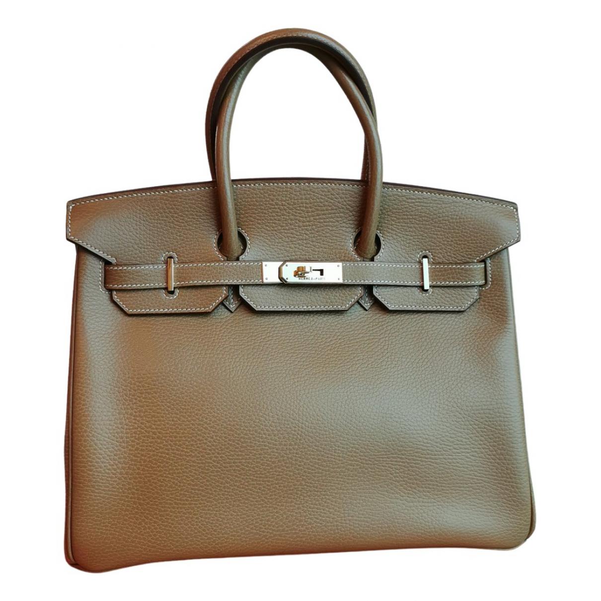 Hermès Birkin 35 Camel Leather handbag for Women N