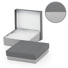 #34 Gray/Charcoal Jewelry Box - 3-1/2 X 3-1/2 X 2 - Cardboard - Quantity: 100 - Jewelry Boxes by Paper Mart