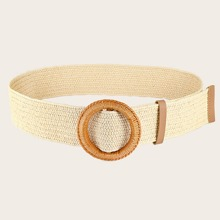 Braided Buckle Woven Belt