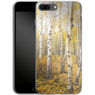 Apple iPhone 8 Plus Silikon Handyhuelle - Fallen Leaves von Joy StClaire