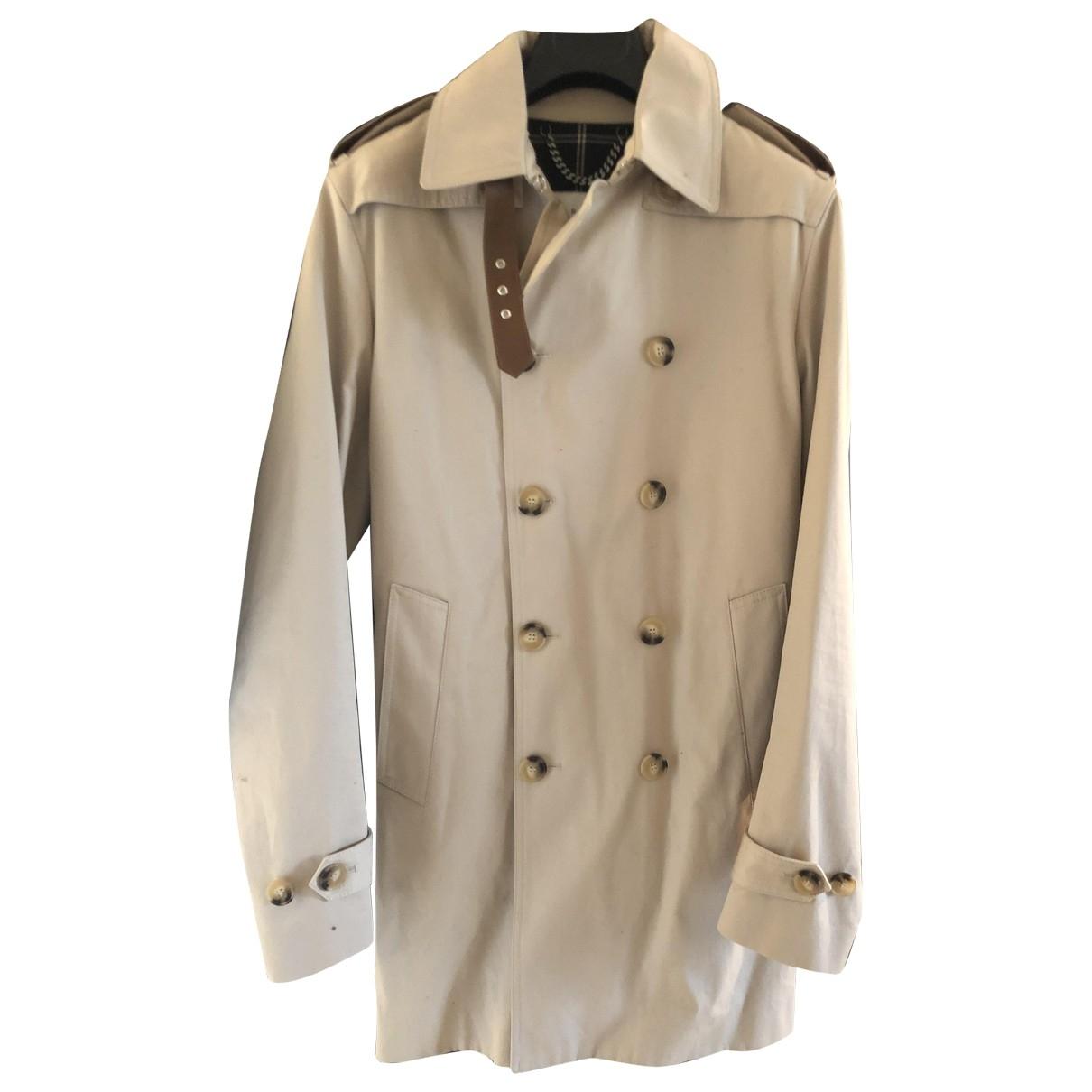 Sandro - Manteau   pour homme en coton - beige