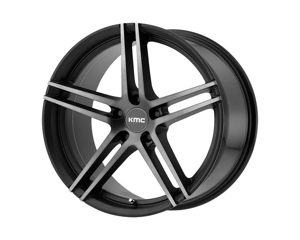KMC KM703 Monophonic Wheel 18x9.5 5x5x120 +45mm Satin Black Titanium Black Face