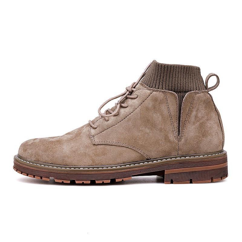 Ericdress Plain Lace-Up Front Round Toe Men's Boots