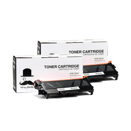 Compatible Brother TN420 Black Toner Cartridge - Moustache@ - 2/Pack
