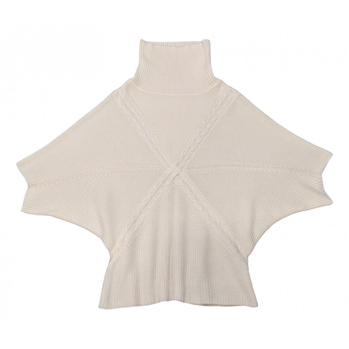 Non Signé / Unsigned Oversize Ecru Wool Knitwear for Women M International