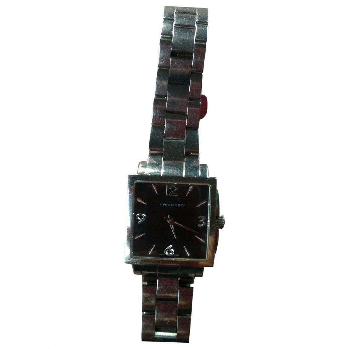 Hamilton \N Black Steel watch for Women \N