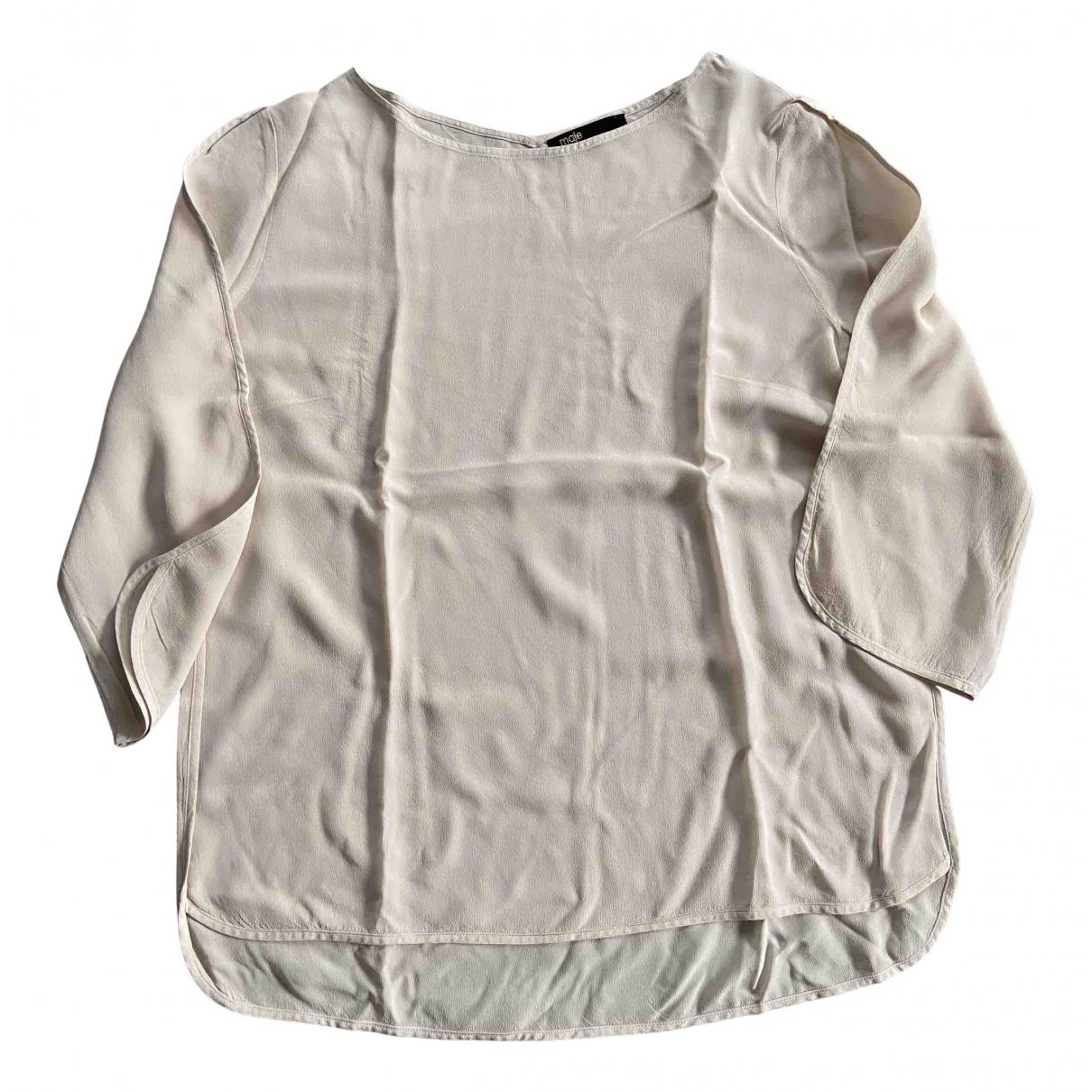 Maje - Top   pour femme en soie - rose