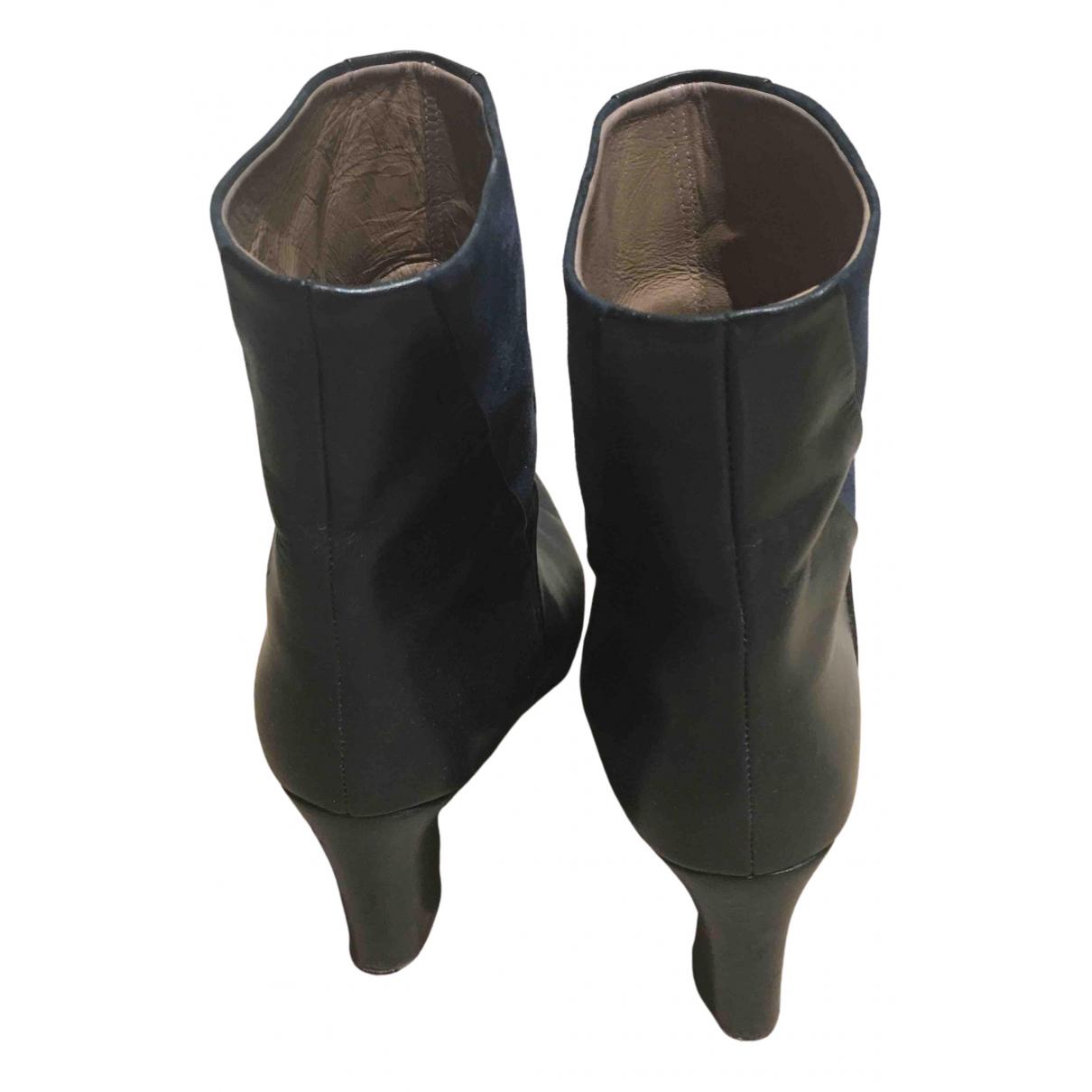 Avril Gau - Boots   pour femme en cuir - noir