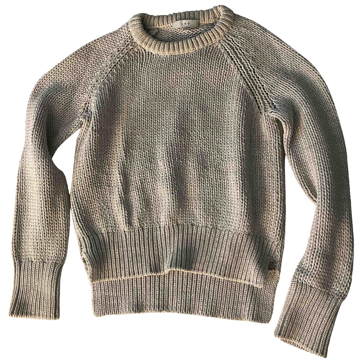 Iro - Pull   pour femme en coton - gris