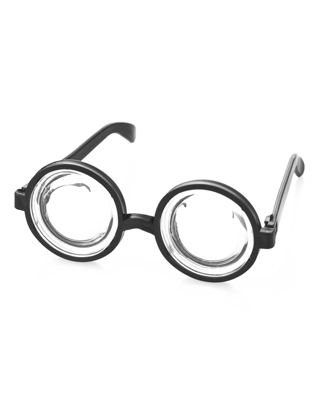 Kostuemzubehor Brille Doofi Farbe: schwarz