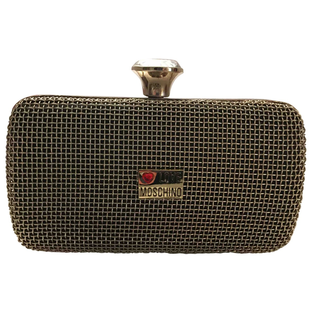 Moschino Love \N Clutch in  Gold Metall