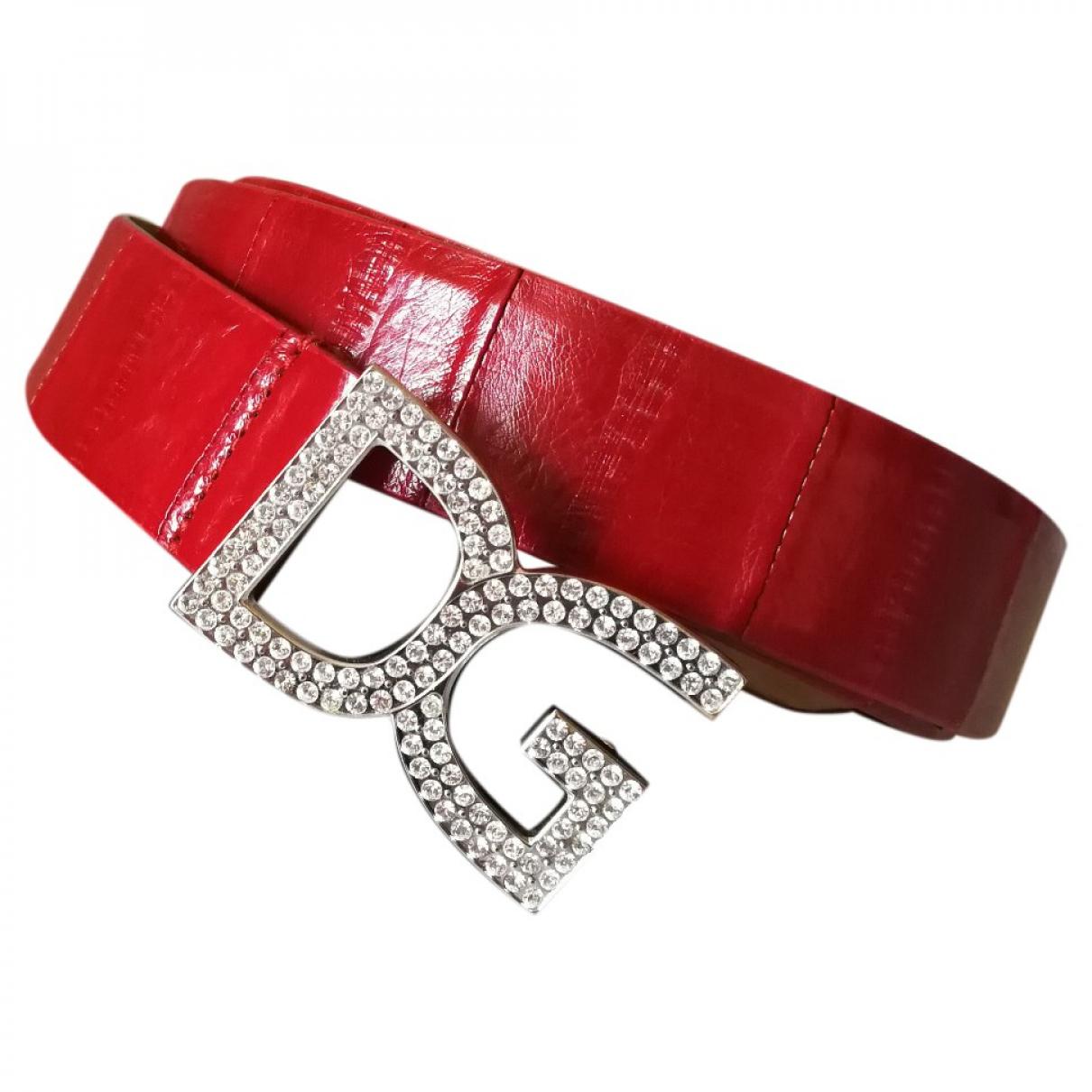 Dolce & Gabbana \N Red Leather belt for Women M International