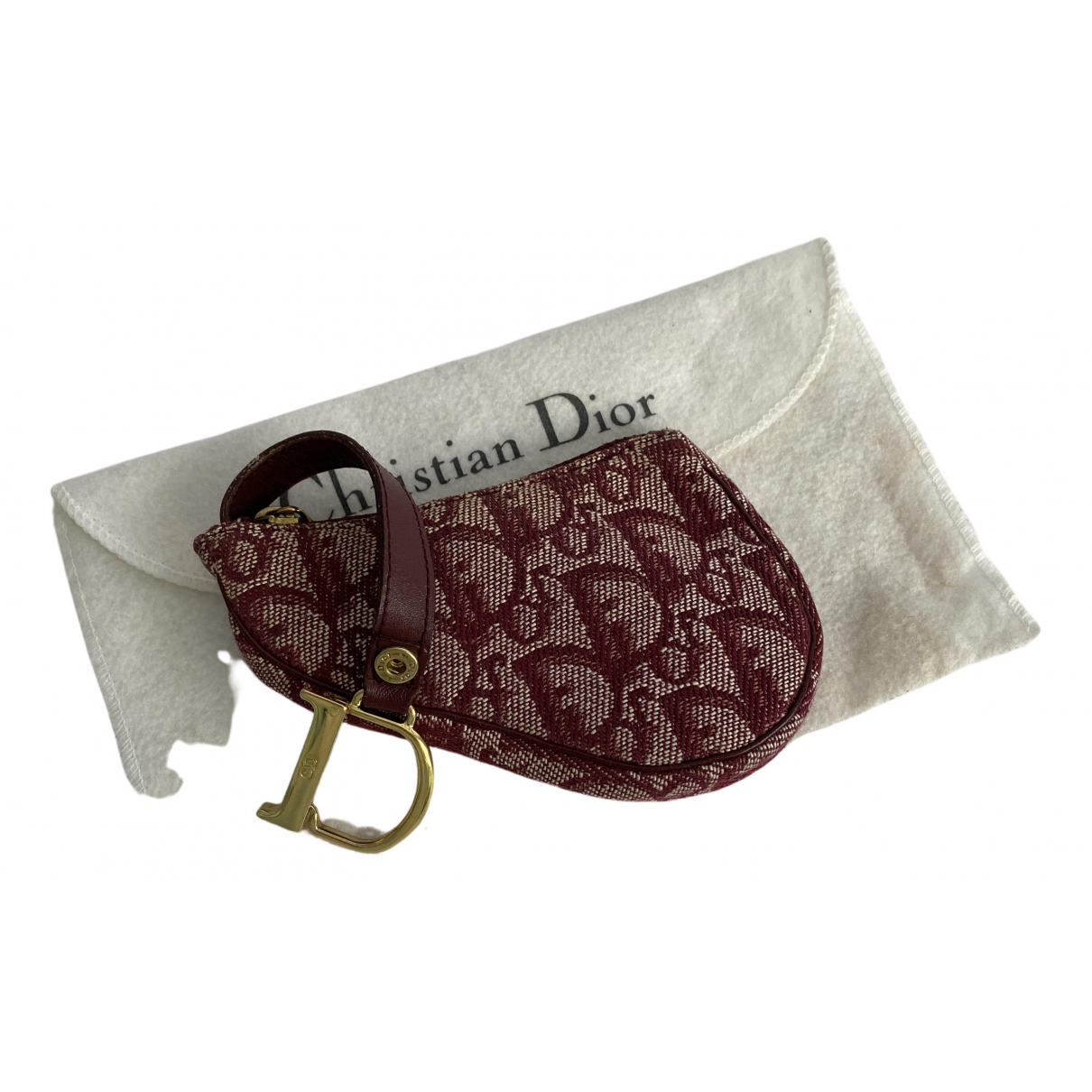 Dior Saddle Red Cloth Purses, wallet & cases for Women N
