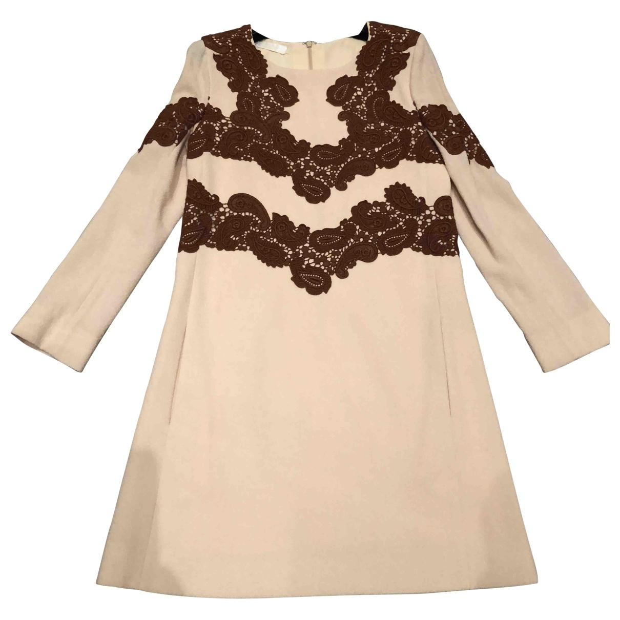 Chloe - Robe   pour femme en laine - beige