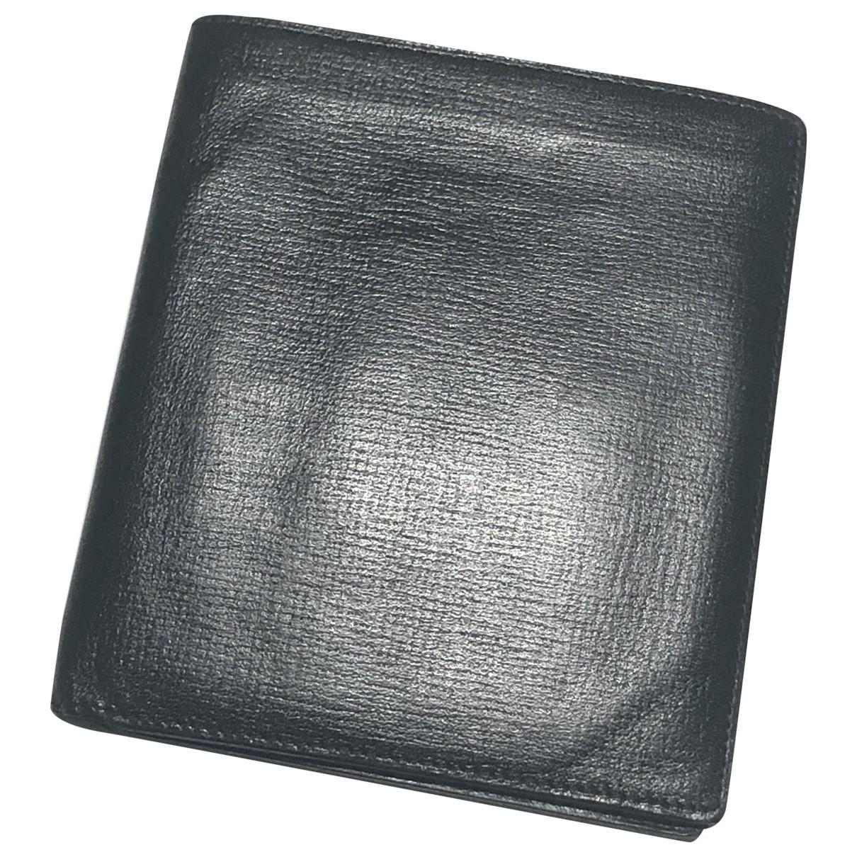 Valextra \N Black Leather Small bag, wallet & cases for Men \N