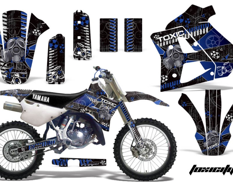 AMR Racing Dirt Bike Graphics Kit Decal Sticker Wrap For Yamaha WR250Z 1991-1993áTOXIC BLUE BLACK