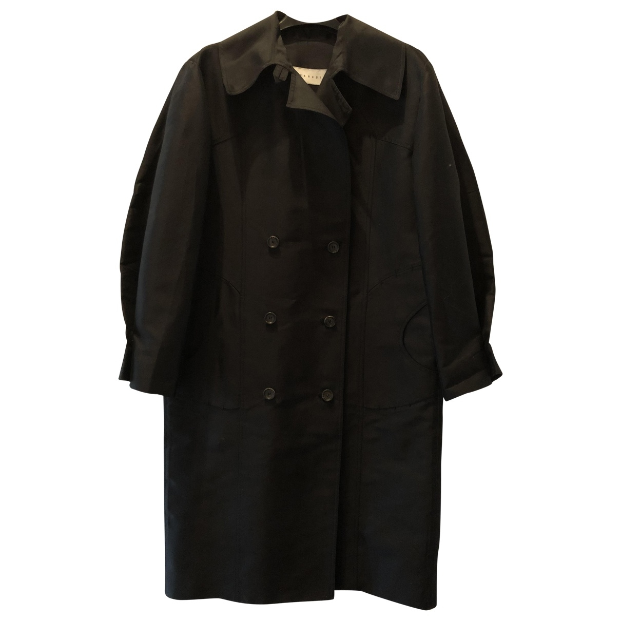 Non Signé / Unsigned \N Black Silk coat for Women XS International