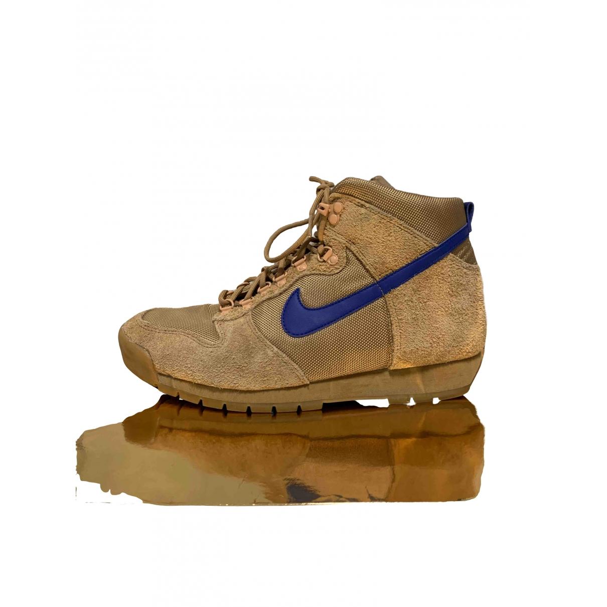 Nike Acg - Baskets   pour homme en suede - camel