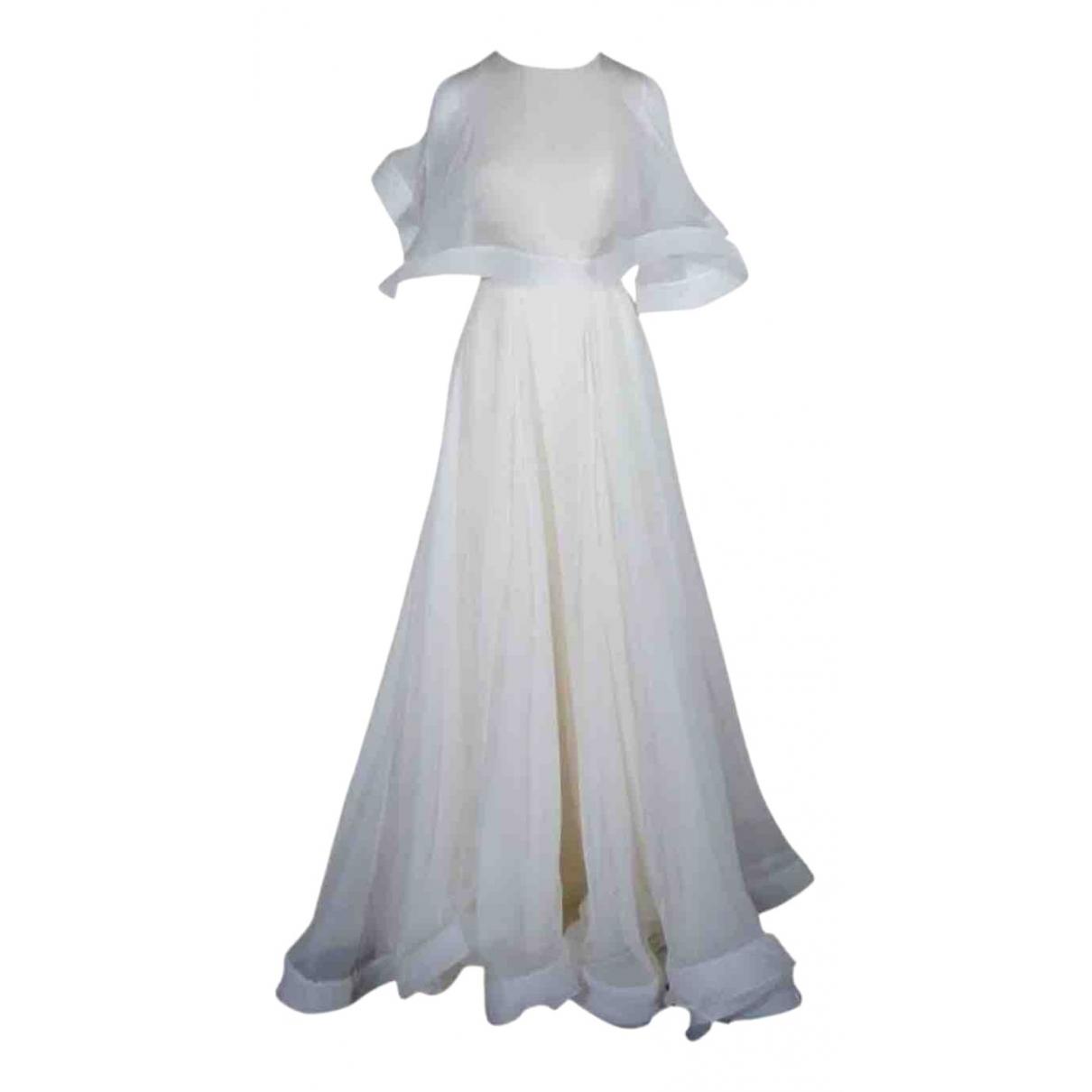 Valentino Garavani \N White Silk dress for Women 42 IT