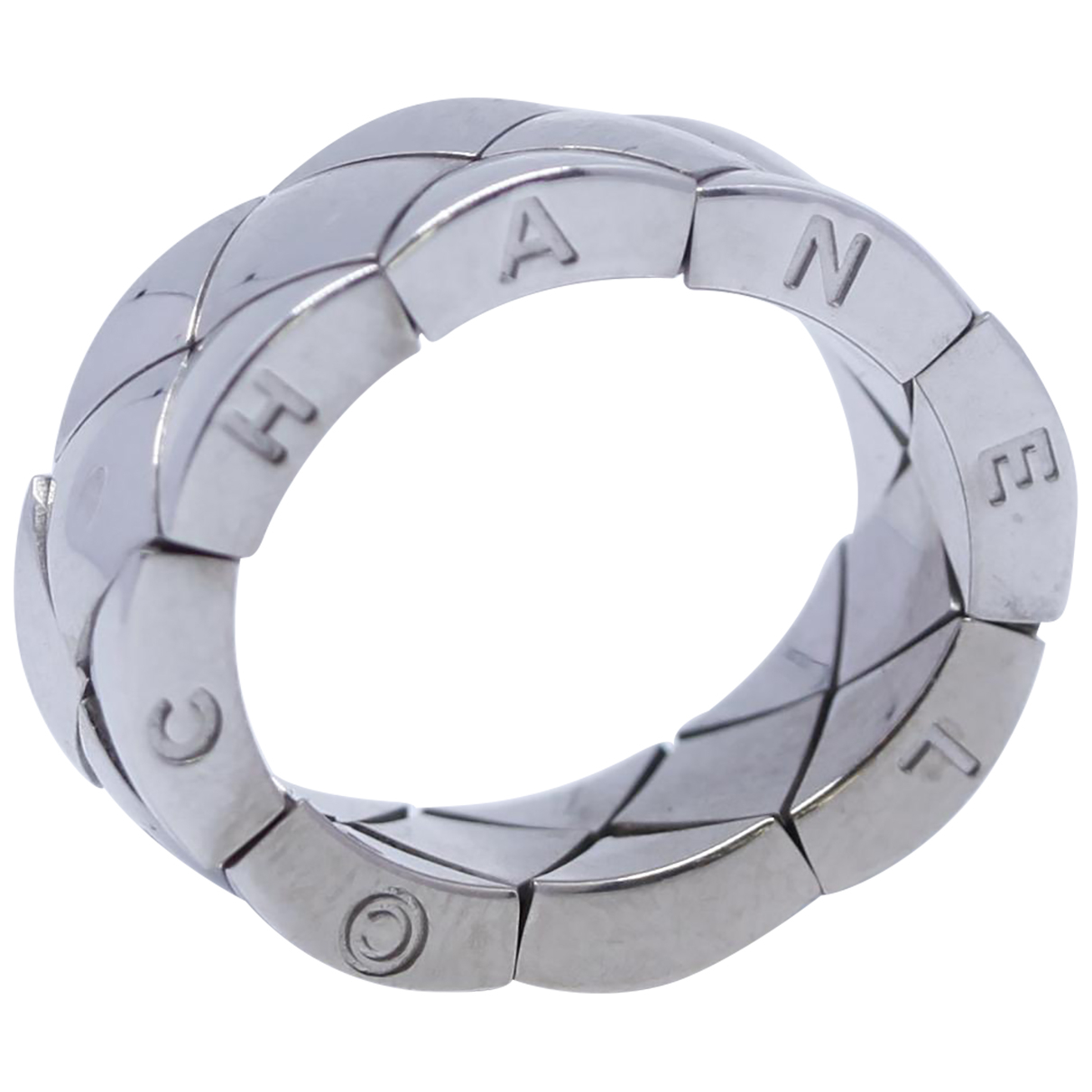 Chanel Matelasse Ring in  Silber Weissgold