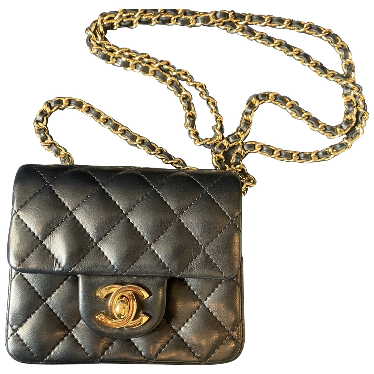 Chanel 2.55 Black Mongolian Lamb handbag for Women \N
