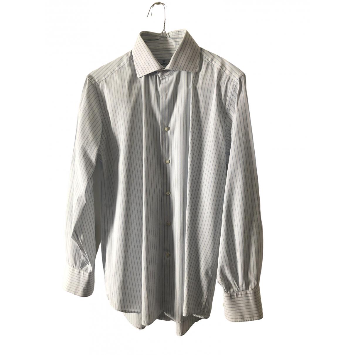 Non Signé / Unsigned \N White Cotton Shirts for Men 42 EU (tour de cou / collar)