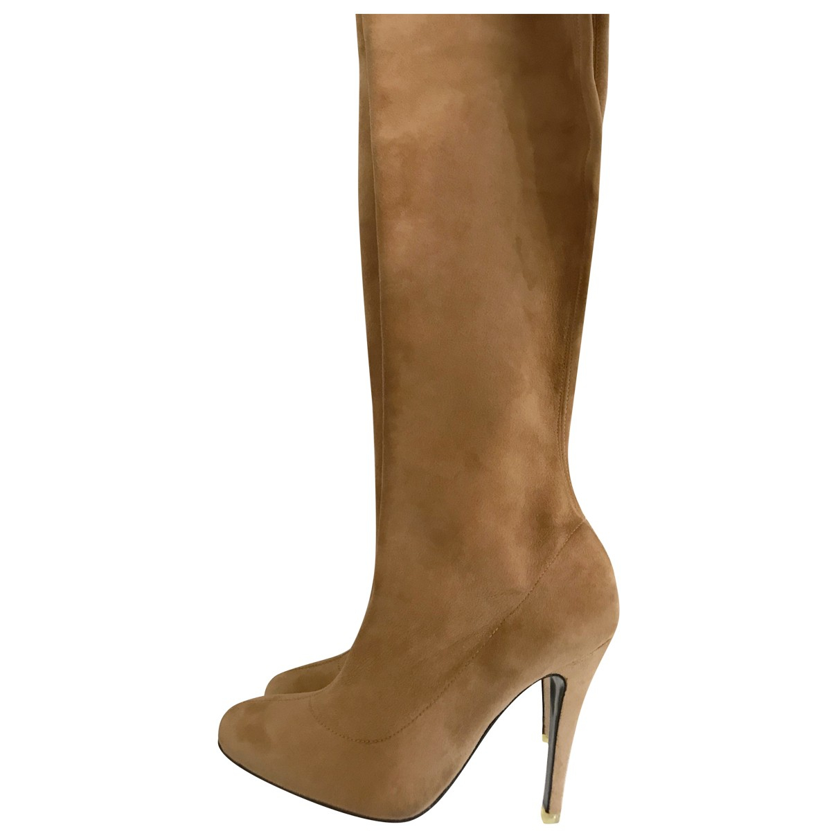 Non Signé / Unsigned N Beige Suede Boots for Women 36 EU