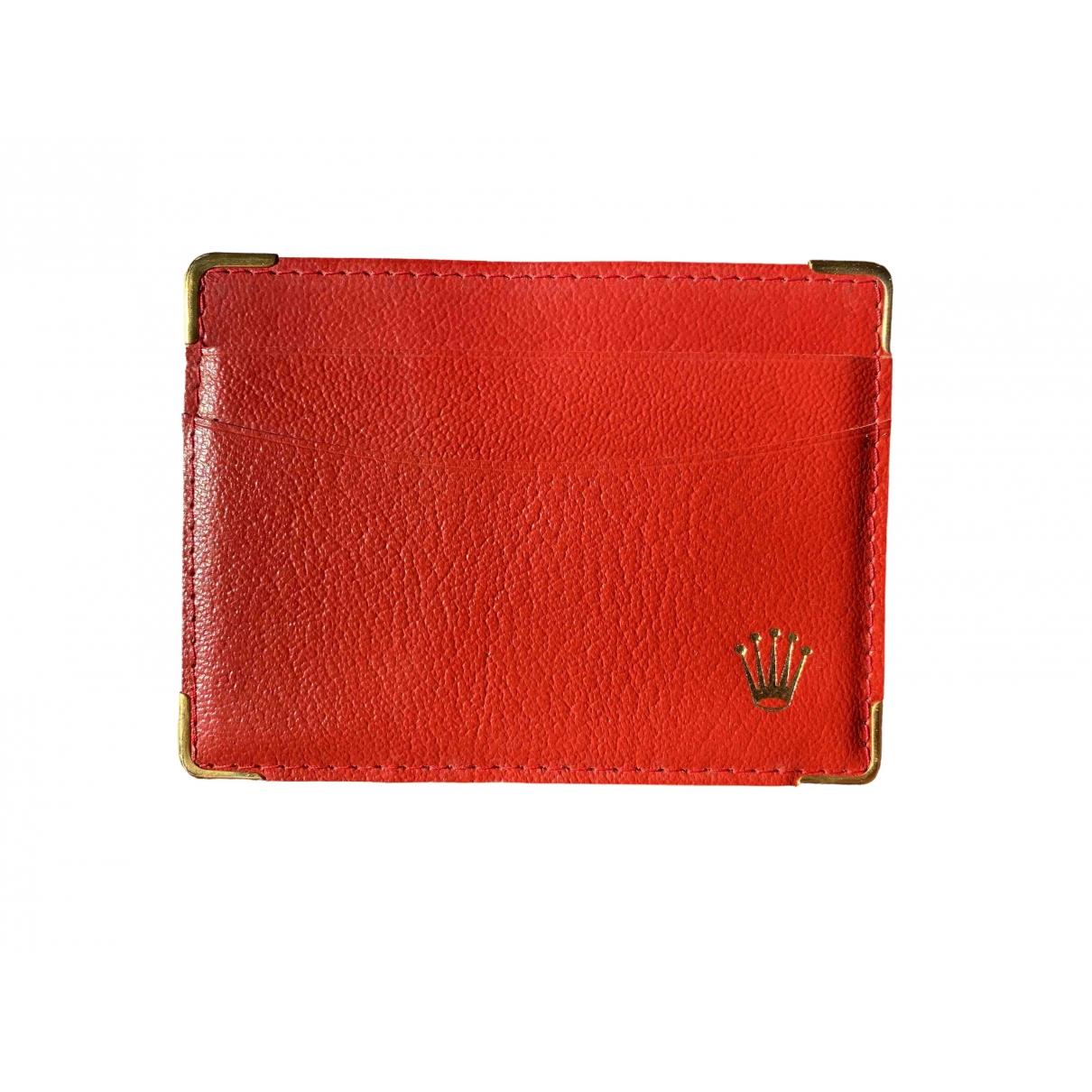 Rolex - Petite maroquinerie   pour homme en cuir - rouge