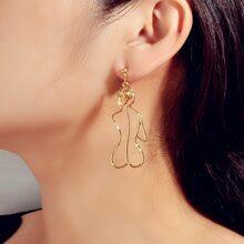 Figure Shaped Stud Earrings