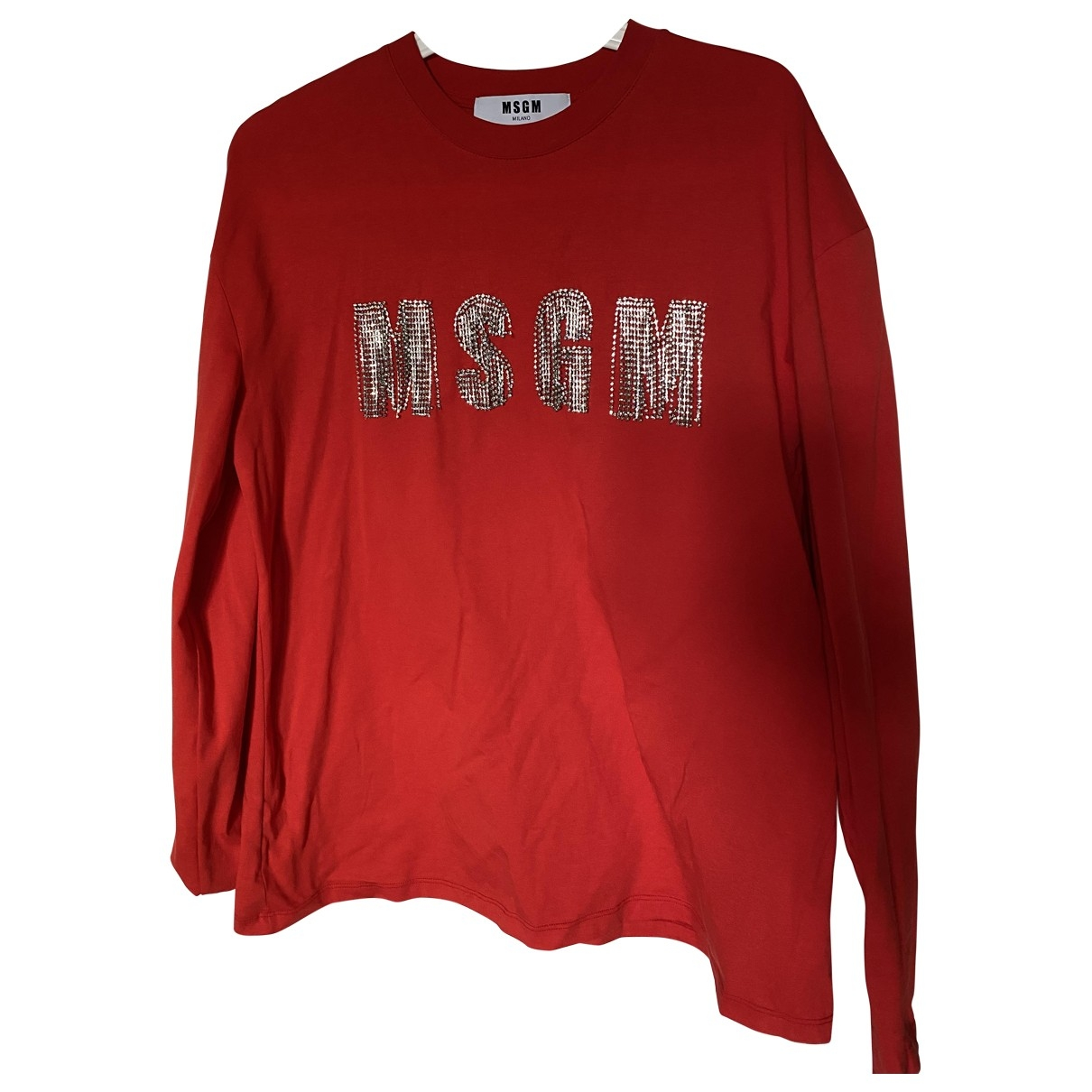 Msgm - Top   pour femme en coton - rouge