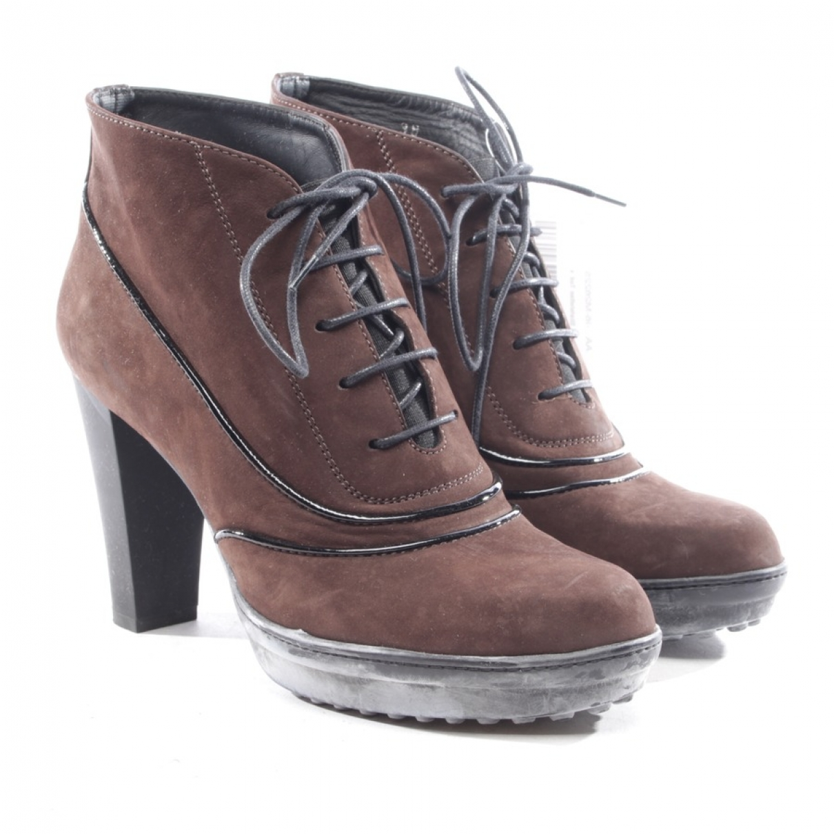Tod's \N Brown Leather Ankle boots for Women 38 EU