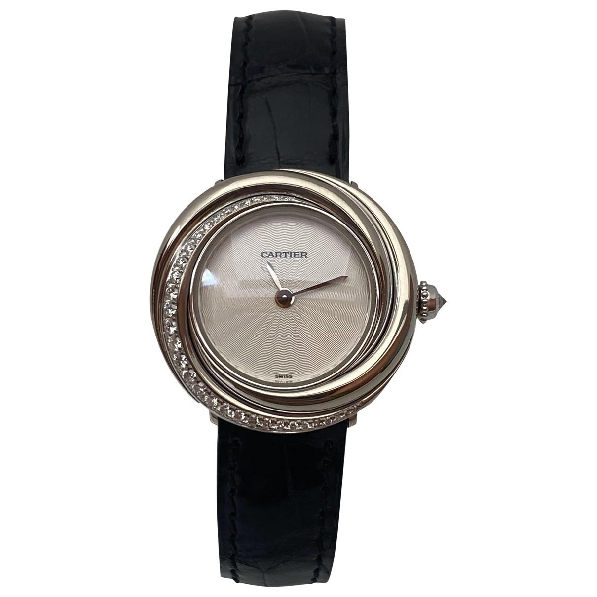 Cartier Must Trinity Uhr in  Silber Weissgold